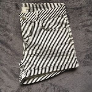 H&M High Waisted Striped Shorts